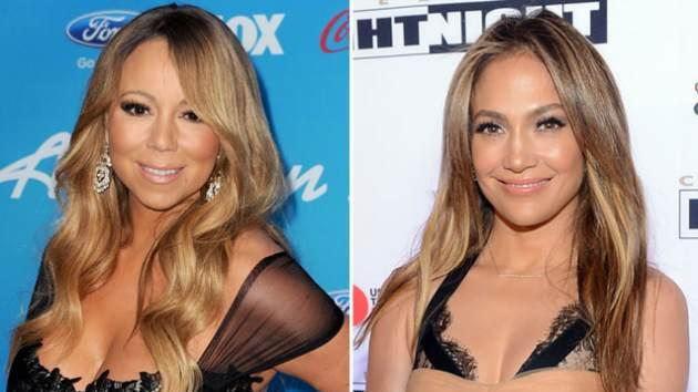 Mariah Carey/Jennifer Lopez -- Getty Images
