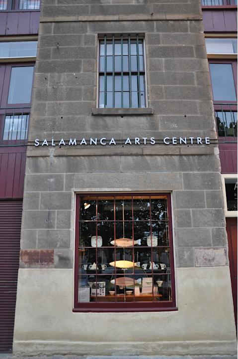 Hobart, the capital of Tasmania, is filled with quaint little boutiques and stores like this one, which is located in Salamanca Square.