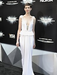 Anne Hathaway stepped out for the New York premiere of The Dark Knight Rises