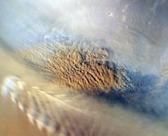 This NASA close-up image of a dust storm on the surface of Mars. Indian Prime Minister Manmohan Singh has confirmed that New Delhi plans launch a space probe that will orbit Mars, after press reports that the mission was scheduled to begin late 2013