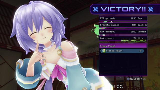 Hyperdimension Neptunia Victory - General Battle Footage