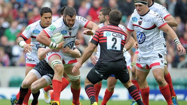 Toulon's Danie Rossouw in action against Saracens (PA)
