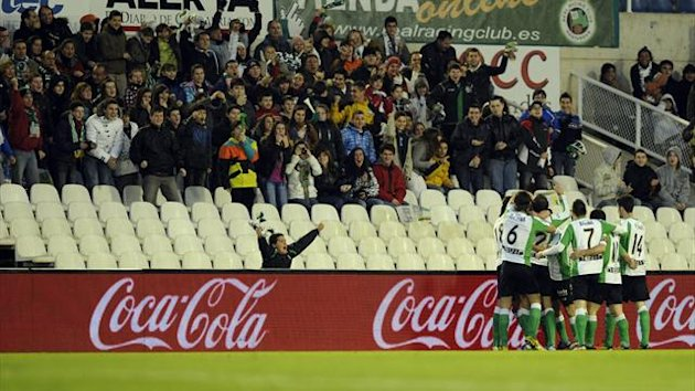 Generic shot of Racing Santander fans at El Sardinero stadium (AFP)