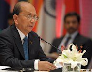 Myanmar President Thein Sein at the ASEAN-India Commemorative Summit in New Delhi on December 20, 2012. He ordered an end to military offensives against the Kachin rebels and continued hostilities have led to doubts over his ability to control the powerful armed forces