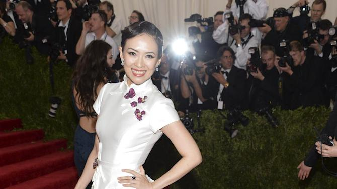 "Zhang Ziyi arrives at The Metropolitan Museum of Art's Costume Institute benefit gala celebrating ""China: Through the Looking Glass"" on Monday, May 4, 2015, in New York. (Photo by Evan Agostini/Invision/AP)"