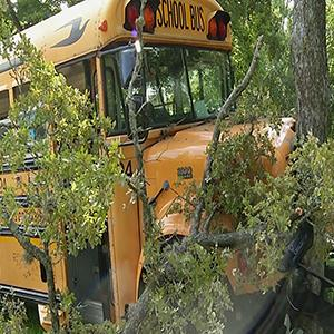 Raw: Houston School Bus Accident Injures 20