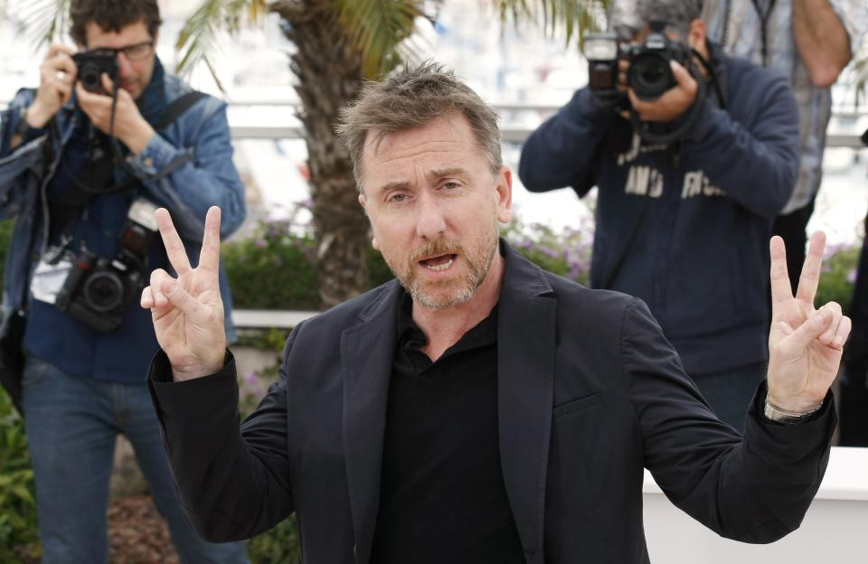 Actor Tim Roth gestures during a photo call for Beyond the Hills at the 65th international film festival, in Cannes, southern France, Saturday, May 19, 2012. (AP Photo/Lionel Cironneau)