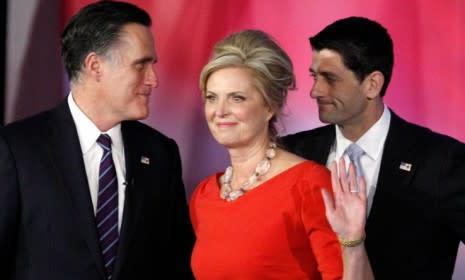 On Election Night, Mitt Romney remained stoic. Ann Romney cried. Paul Ryan was shocked. Janna Ryan teared up.