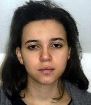 This photo released on January 9, 2015 by the French police shows Hayat Boumeddiene suspected of being involved in the killing of a policewoman in Montrouge on January 8 with another supect Amedy Coulibaly
