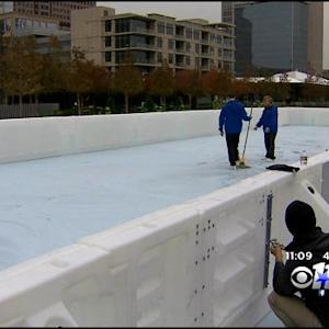 Ice Skating Rink At Klyde Warren Park