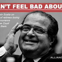 Scalia on Retirees Losing Their Health Insurance: 'I Can't Feel Bad About It'