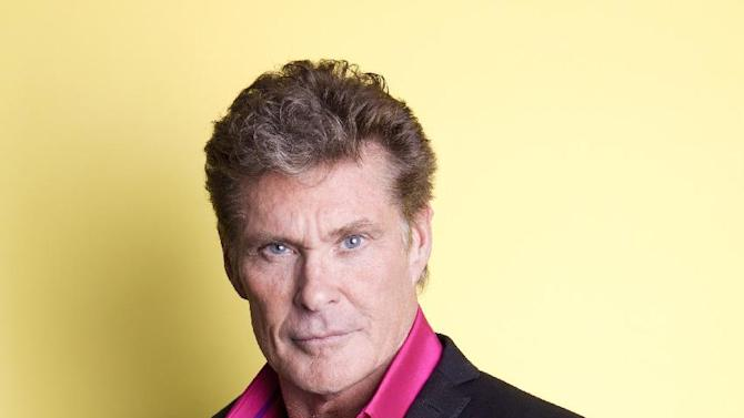 """American actor, singer and producer David Hasselhoff  poses for a portrait, on Thursday, Nov. 8, 2012 in New York. Hasselhoff appears in the Lifetime original movie, """"The Christmas Consultant"""" airing Saturday, Nov. 10 at 8 p.m. EST on Lifetime. (Photo by Amy Sussman/Invision/AP)"""