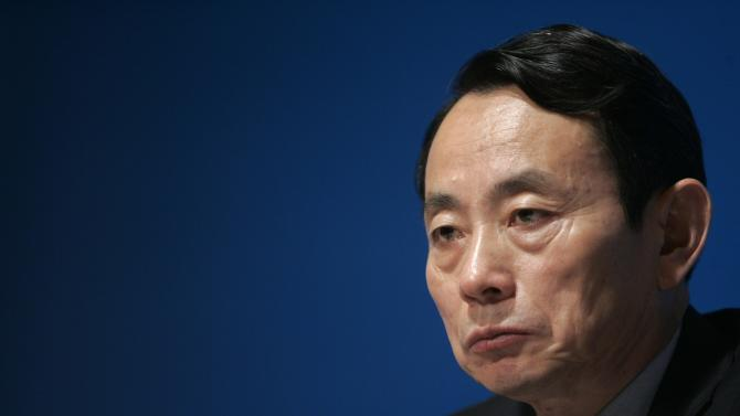 File photo of Vice Chairman and President of PetroChina Company Limited Jiang attending a news conference in Hong Kong