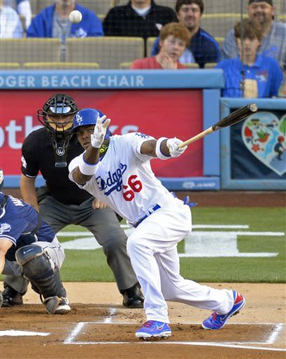 Dodgers beat Padres 2-1 to end 2-game skid