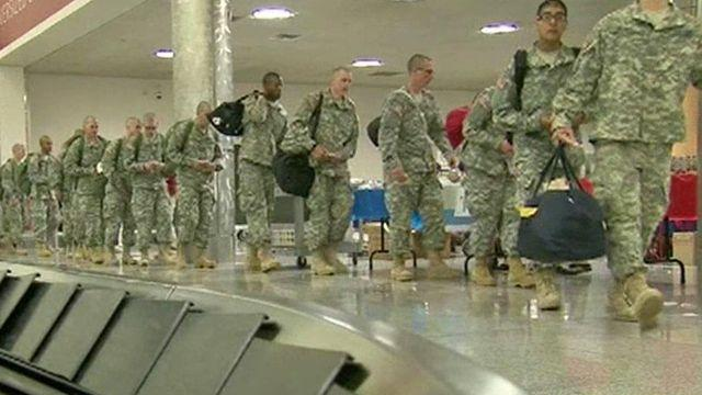 America's bravest head home for the holidays