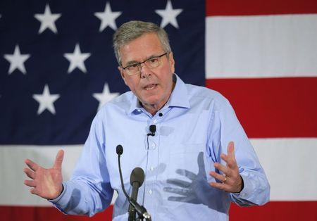 Former Florida Governor and probably 2016 Republican presidential candidate Jeb Bush speaks at the First in the Nation Republican Leadership Conference in Nashua