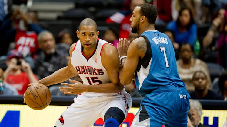 NBA: Minnesota Timberwolves at Atlanta Hawks