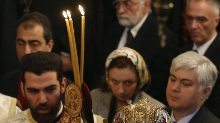 Ecumenical Patriarch Bartholomew I leads a special Sunday mass after the Synaxis at the Patriarchal Church of St. George in Istanbul