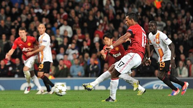 Nani missed his penalty kick against Galatasaray
