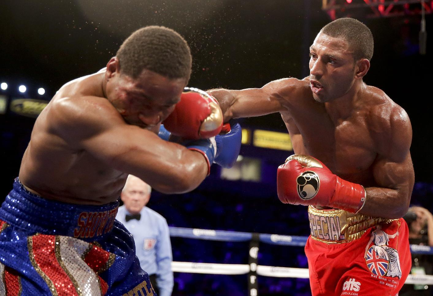 Brook makes 1st title defense after life-threatening attack