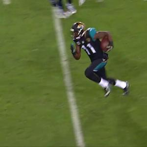 Jacksonville Jaguars wide receiver Marqise Lee 34-yard catch and run