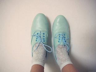 Handmade pastel oxfords