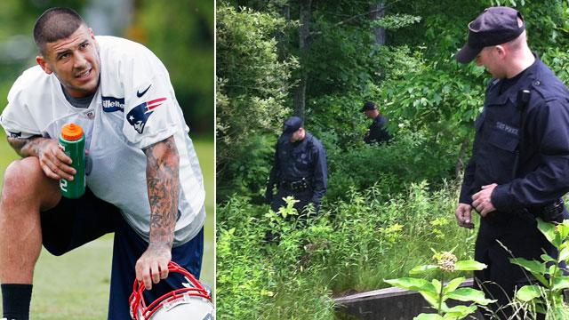 Cops Back at Aaron Hernandez Home
