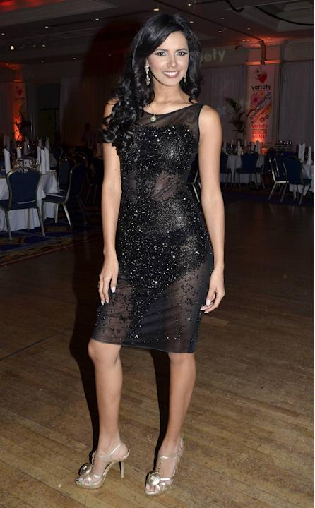 Ivian Sarcos (Miss World 2011) Variety Children's Charity Humanitarian Awards Gala Dinner at The Burlington Hotel Dublin, Ireland - 06.05.12 Mandatory Credit: WENN.com
