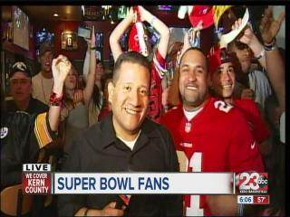 Football Fans Fill Buffalo Wild Wings to Watch the Big Game