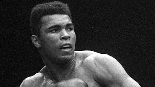 Cassius Clay in action in the 1960s