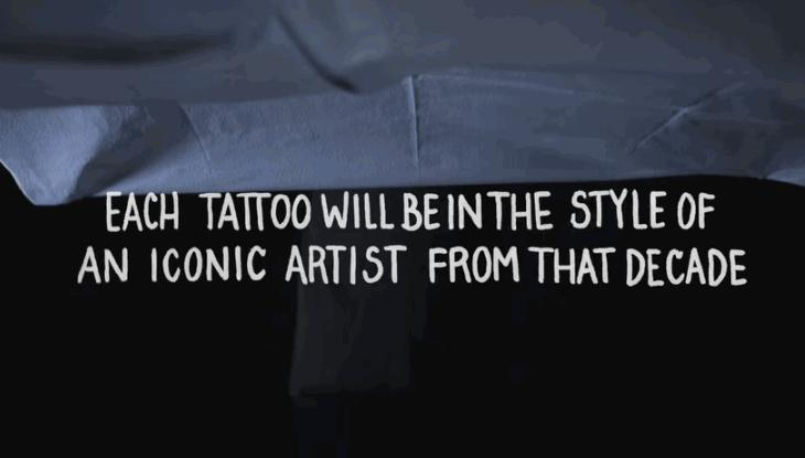 Watch 100 Years of Tattoos, In Just 3 Gorgeous Minutes, All on One Person