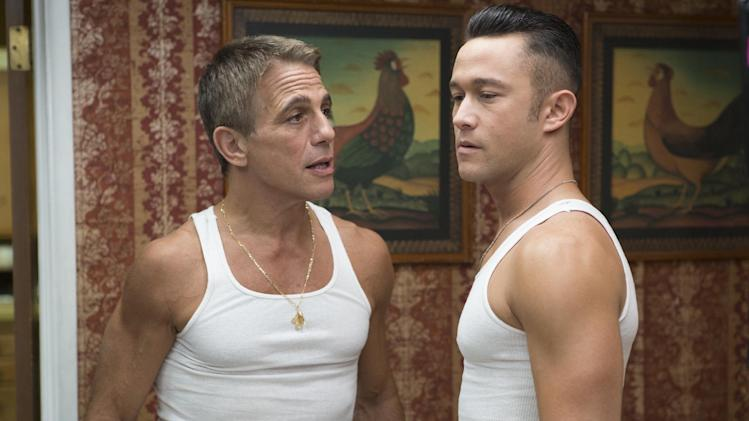 "This film image released by Relativity Media shows Tony Danza, left, and Joseph Gordon-Levitt in a scene from ""Don Jon"". Gordon-Levitt wrote and directed the film that opens nationwide on Sept. 27. (AP Photo/Relativity Media, Daniel McFadden)"