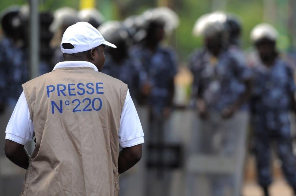 Media protest over arrested journalist in Togo