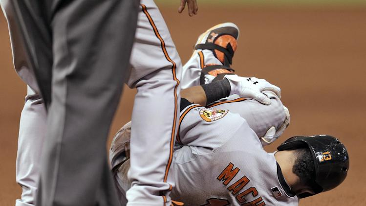 O's 3B Machado relieved after 'terrifying' moment