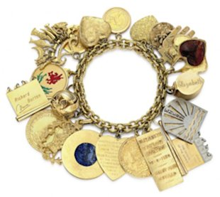 Charm bracelet with 20 assorted charms. Photo courtesy of Christie's Images LTD