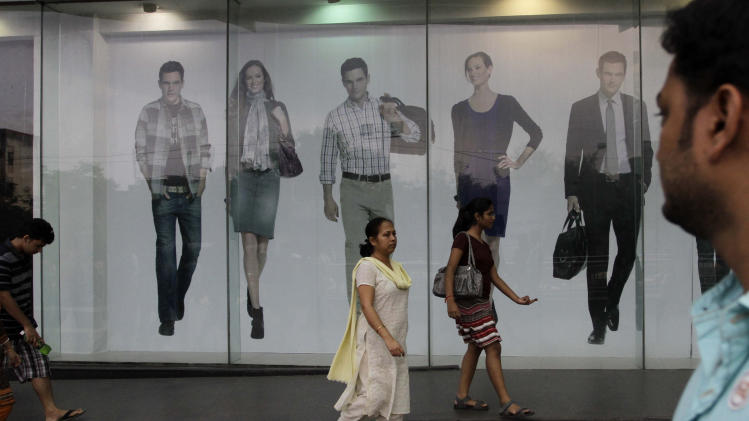 at a shopping mall in Kolkata, India, Sunday, July 31, 2011.America