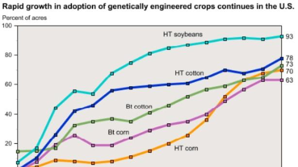 Chart: The Staggering Rise of Genetically Engineered Crops
