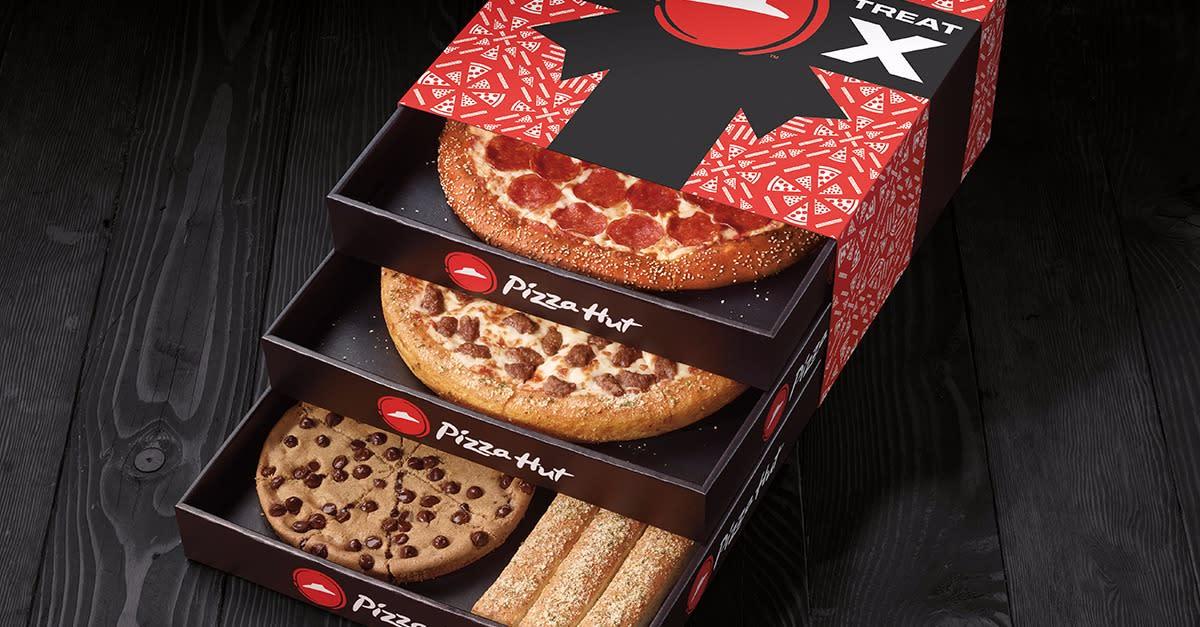 Unwrap the Triple Treat Box from Pizza Hut