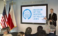Bogdan Zdrojewski, Poland's Minister of Culture, speaks at a dedication ceremony for the Museum of the History of Polish Jews in New York. The museum is set to open in Warsaw, Poland in late 2013
