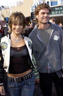 Premiere: Lisa Rinna of Robot Wars and Harry Hamlin of Clash of the Titans at the Hollywood premiere of Warner Brothers' The Matrix: Reloaded - 5/7/2003 