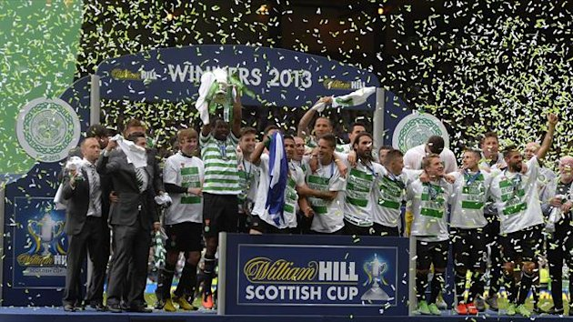 Celtic celebrate Scottish Cup