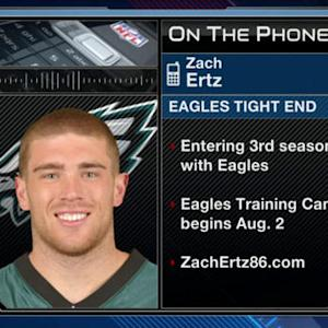 Philadelphia Eagles tight end Zach Ertz talks United States Women's National Team and Eagles' quarterback situation