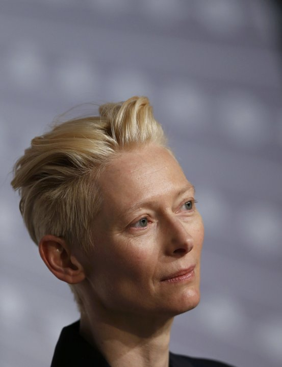 "Cast member Tilda Swinton attends a news conference for the film ""Only Lovers Left Alive"" during the 66th Cannes Film Festival"