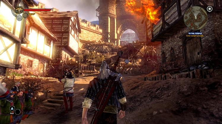 "In this video game image released by Warner Bros., a scene is shown from ""The Witcher 2: Assassins of Kings."" (AP Photo/Warner Bros.)"