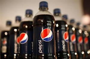 Bottles of Pepsi cola on display at PepsiCo's 2010 Investor Meeting event in New York