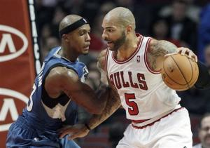 Bulls win in Wolves' first game without Love