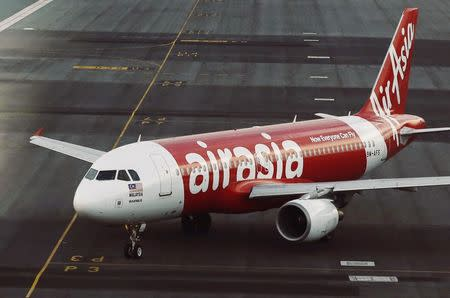 File photo shows an AirAsia plane on the runway at Kuala Lumpur International Airport