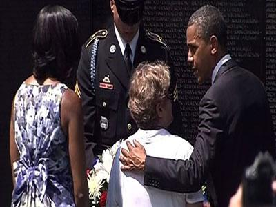 Obama pays tribute to Vietnam veterans