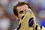 Britain's Andy Murray wipes his face with a towel during the Wimbledon men's singles final between the Scot and Switzerland's Roger Federer at the All England Tennis Club in Wimbledon, southwest London, on July 8. Federer won 4-6, 7-5, 6-3, 6-4