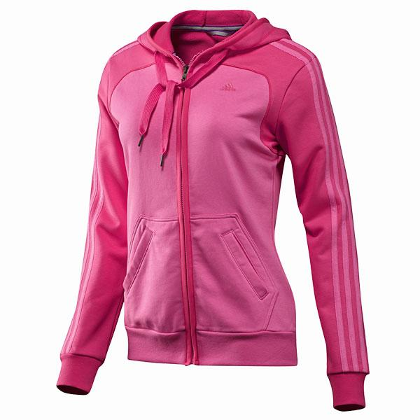 Women's Essentials 3-Stripes Hooded Jacket - £28 - Adidas